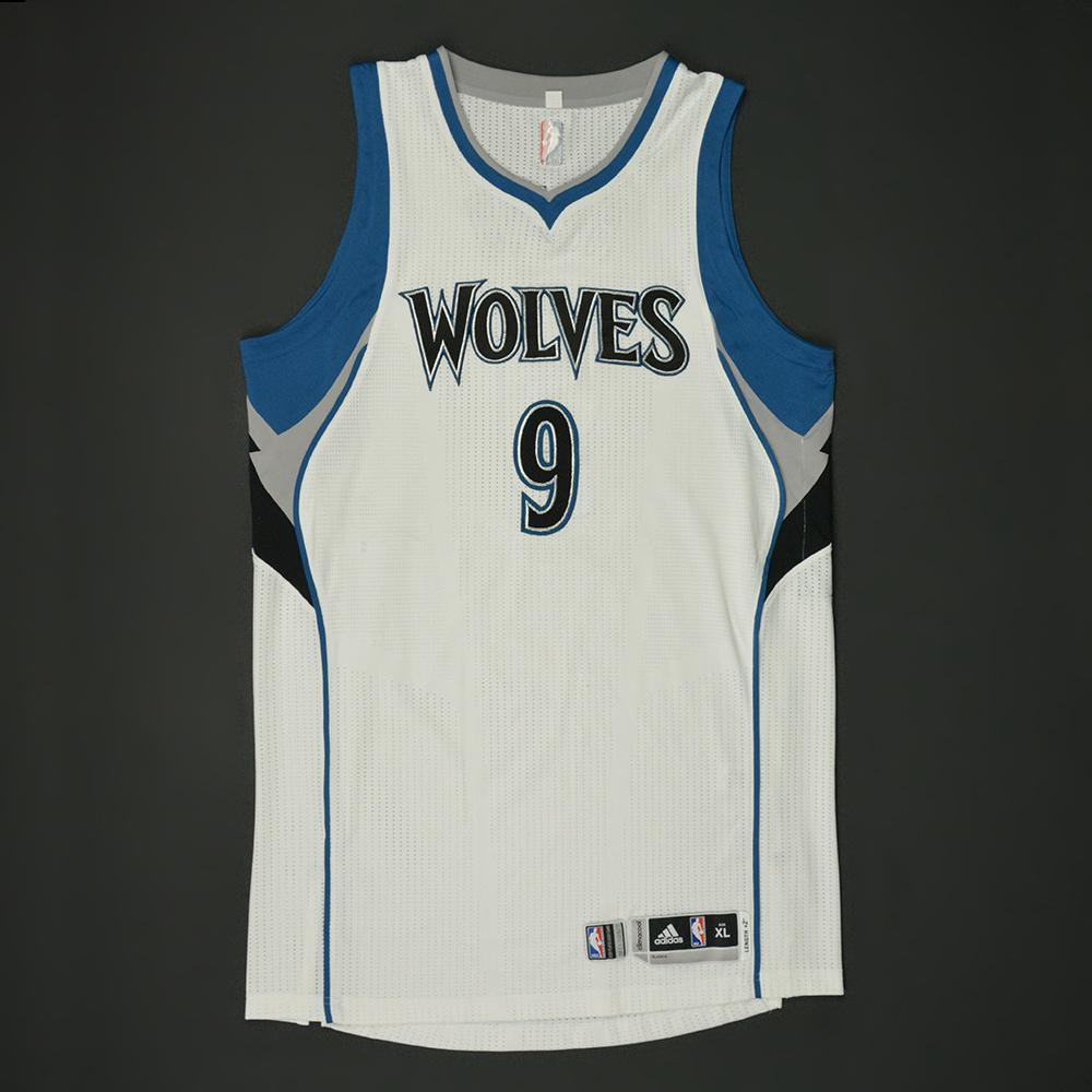 Ricky Rubio - Minnesota Timberwolves - Game-Worn Regular Season Jersey (Double-Double) - 2016-17 Season