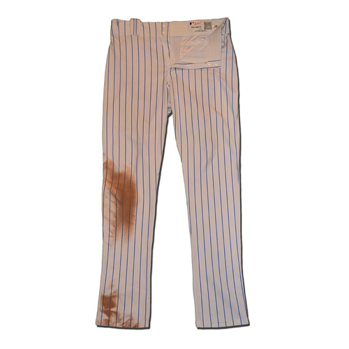 Photo of Jay Bruce #19 - Game Used White Pinstripe Pants - Mets vs. Angels - 5/20/17