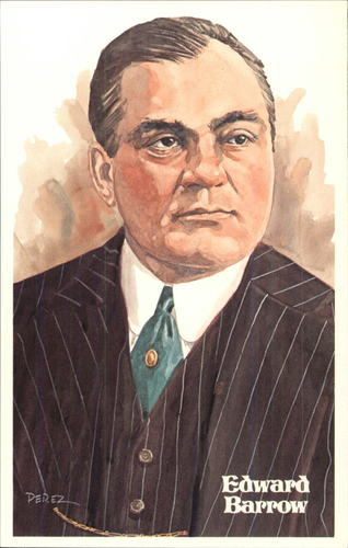 Photo of 1980-02 Perez-Steele Hall of Fame Postcards #63 Edward Barrow -- Set #08689
