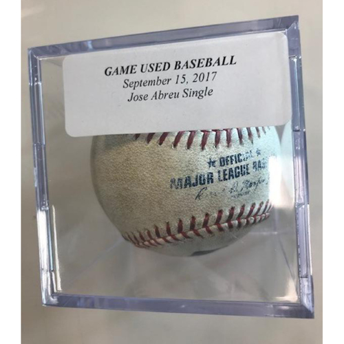 Photo of Game-Used Baseball: Jose Abreu Single
