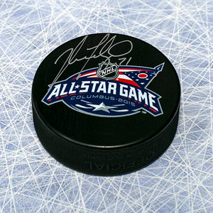 Nick Foligno Autographed 2015 All Star Hockey Puck *Columbus Blue Jackets*