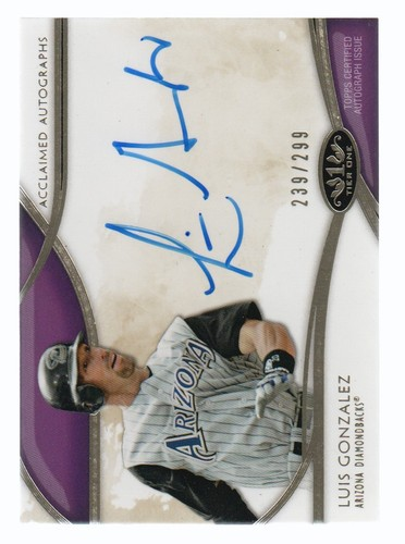 Photo of 2014 Topps Tier One Acclaimed Autographs #AALGN Luis Gonzalez/299