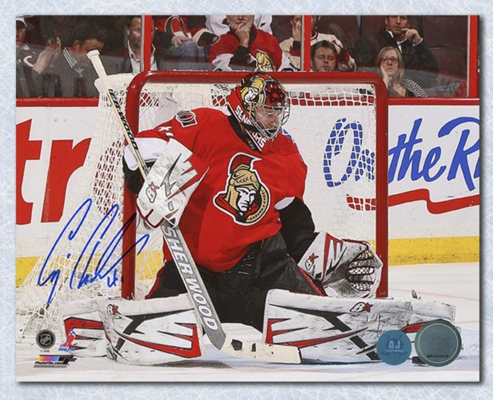 Craig Anderson Ottawa Senators Autographed Butterfly Save 8x10 Photo