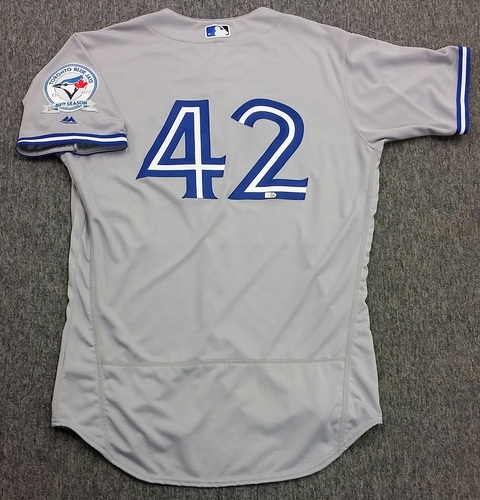 Photo of  Authenticated Team Issued 2016 Jackie Robinson Day Jersey - Steve Delabar