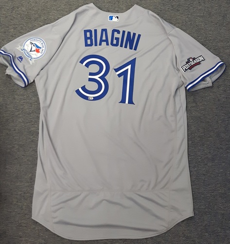 Photo of Authenticated Team Issued 2016 Postseason Jersey - #31 Joe Biagini