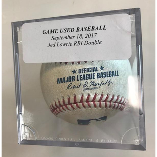 Photo of Game-Used Baseball: Jed Lowrie RBI Double