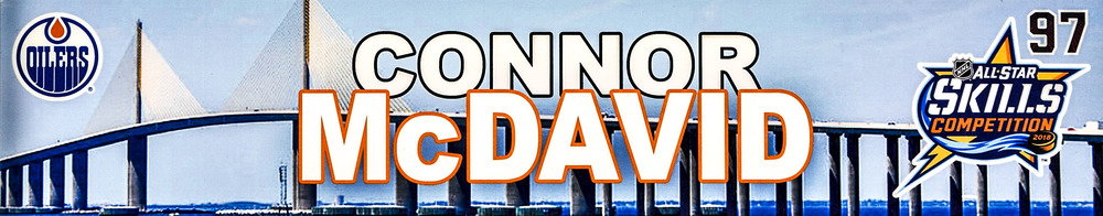 Connor McDavid Edmonton Oilers Event-Used #97 Locker Nameplate from All-Star Skills Competition