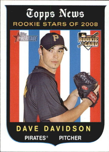 Photo of 2008 Topps Heritage #121 Dave Davidson RC