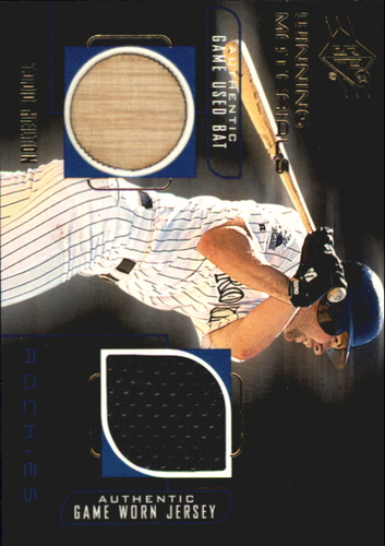 Photo of 1999 SPx Winning Materials #TH Todd Helton