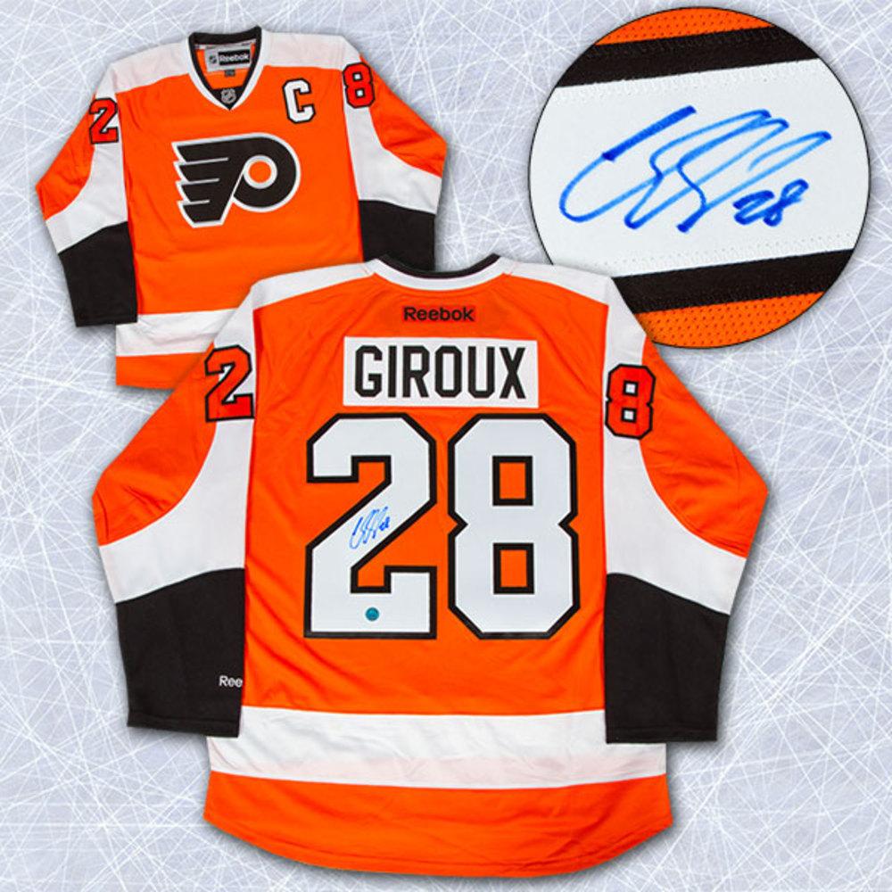 Claude Giroux Philadelphia Flyers Autographed Orange Reebok Premier Jersey