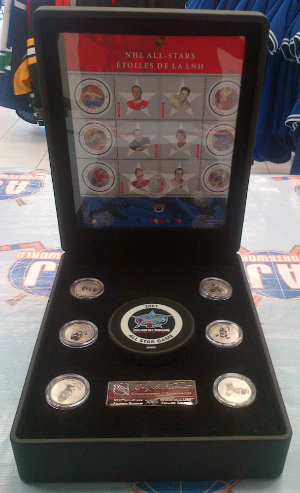 2001 NHL ALL-STARS Commemorative Medallions & Stamp Set *LIMITED EDITION* *BELIVEAU, SAWCHUK, SHORE, POTVIN, HULL, APPS MEDALLIONS*