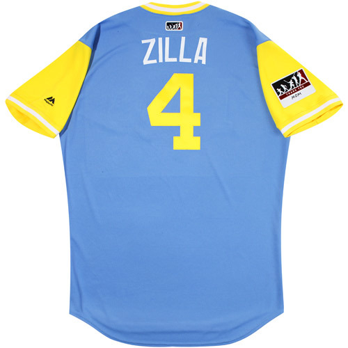 "Photo of Blake ""Zilla"" Snell Tampa Bay Rays Game-Used Players Weekend Jersey"