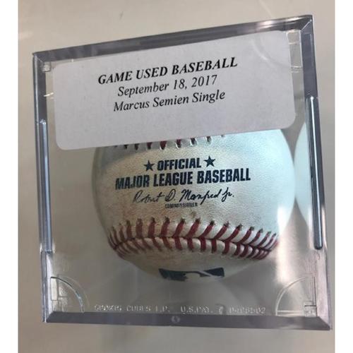 Photo of Game-Used Baseball: Marcus Semien Single