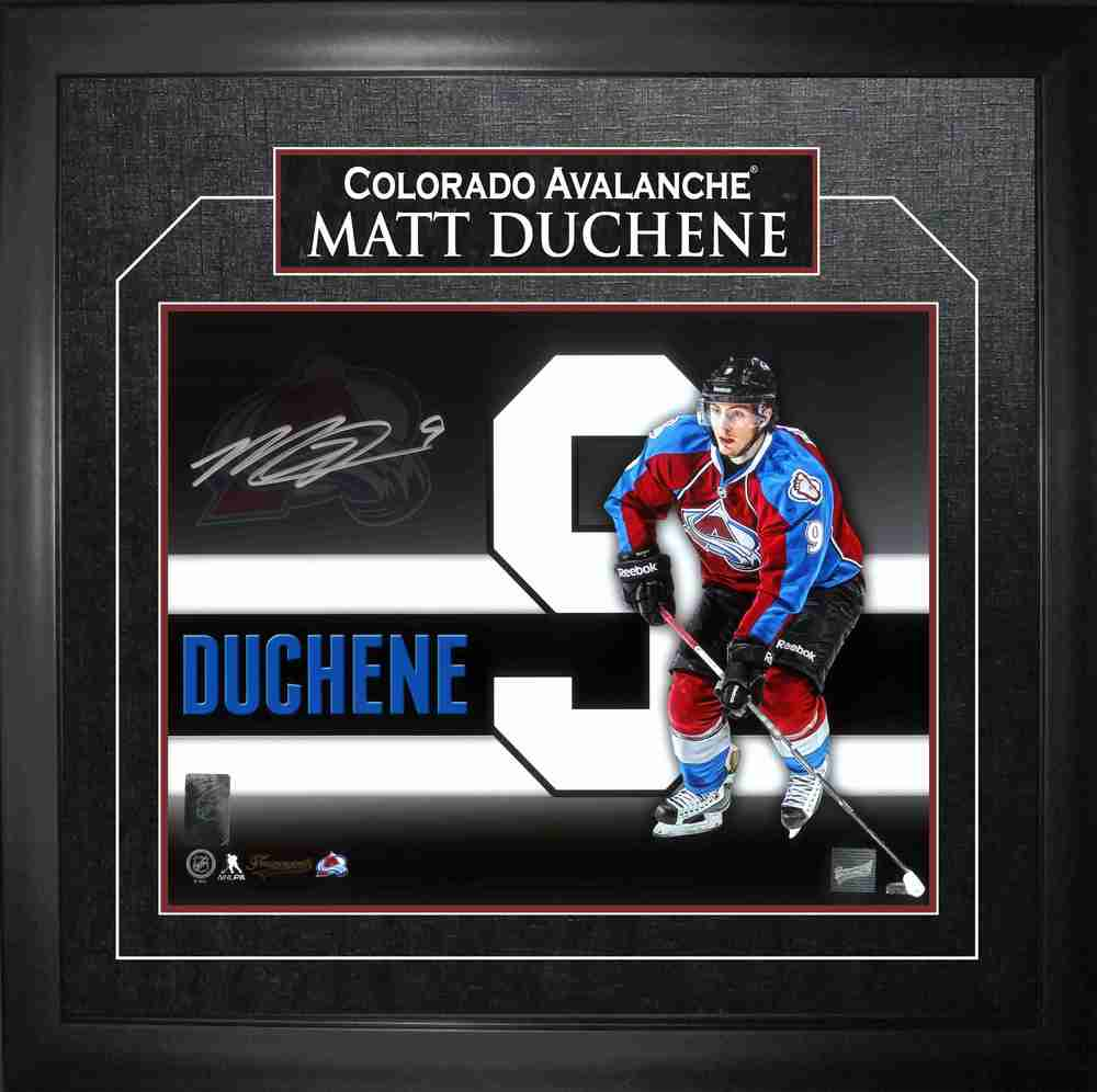Matt Duchene - Signed & Framed 11x14 Etched Mat - Coloardo Avalanche Background Number