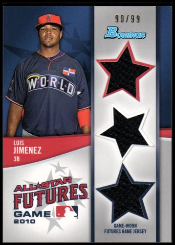 Photo of 2011 Bowman Future's Game Triple Relics #LJ Luis Jimenez