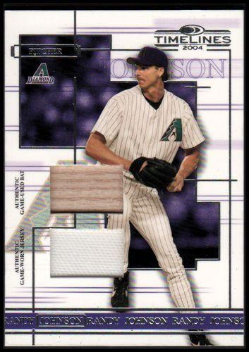 Photo of 2004 Donruss Timelines Material Combo #39 Randy Johnson Bat-Jsy