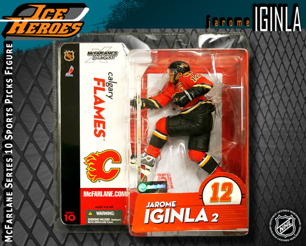 JAROME IGINLA McFarlane Series 10 Action Figure - MIB - Calgary Flames