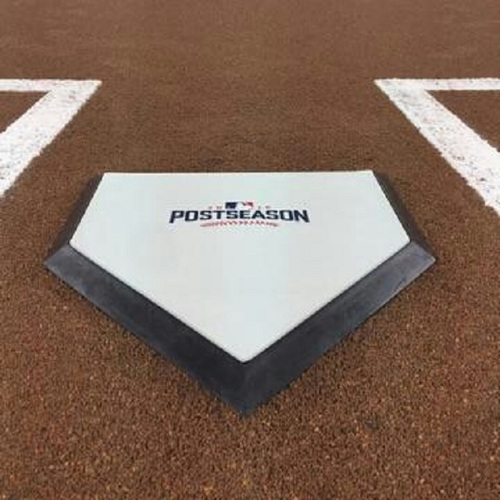 Photo of Authenticated Game Used Home Plate from 2016 ALCS Game 4 Ceremonial First Pitch by Juan Guzeman - Oct 18, 2016