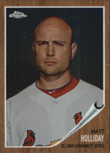 Photo of 2011 Topps Heritage Chrome #C185 Matt Holliday  -- Yankees post-season