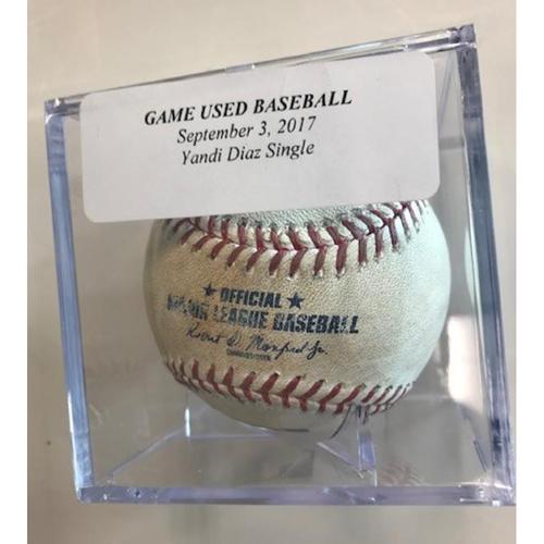 Photo of Game-Used Baseball: Yandi Diaz Single