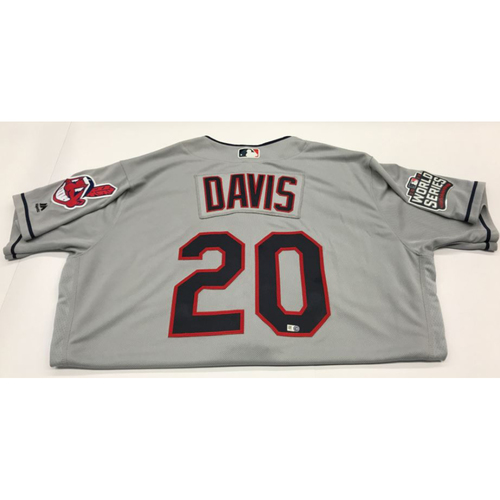 Rajai Davis Team-Issued 2016 World Series Road Jersey