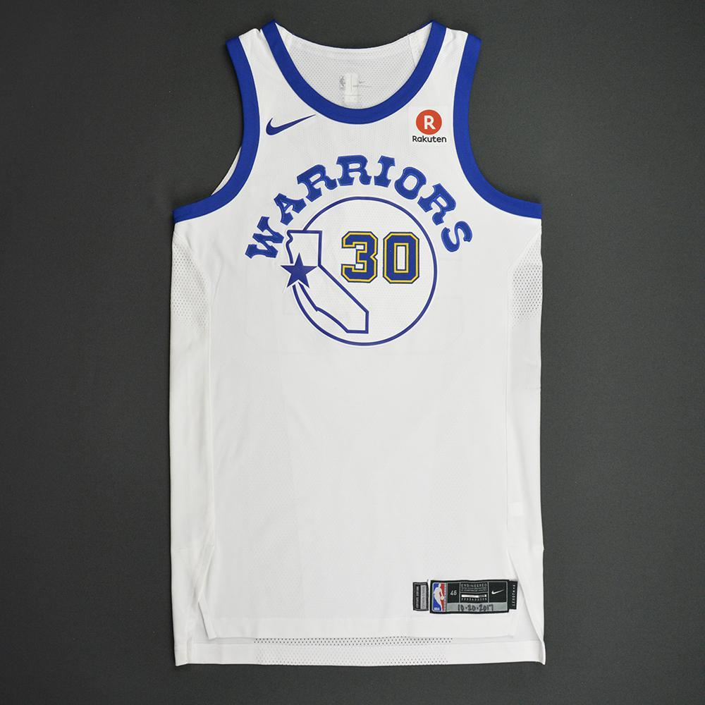 Stephen Curry - Golden State Warriors - Classic Edition 1984-87 Home Style Game-Worn Jersey - 2017-18 Season