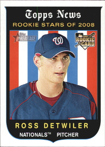 Photo of 2008 Topps Heritage #122 Ross Detwiler GB SP RC