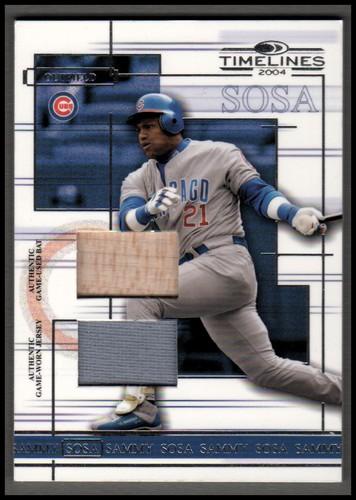 Photo of 2004 Donruss Timelines Material Combo #43 Sammy Sosa Bat-Jsy