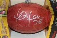 NFL - RAMS MARSHALL FAULK SIGNED AUTHENTIC FOOTBALL