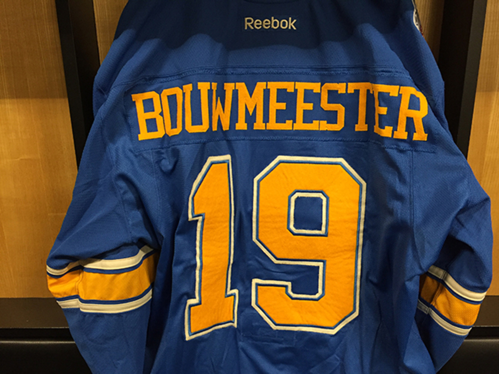 Jay Bouwmeester Winter Classic Game-worn Jersey
