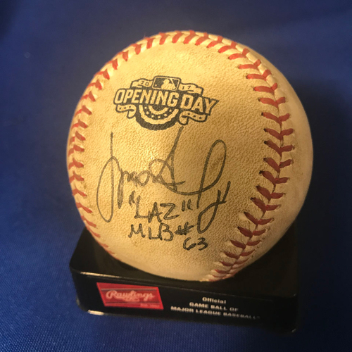 Photo of UMPS CARE AUCTION: Houston Astros Opening Day Baseball Signed by Umpire Crew
