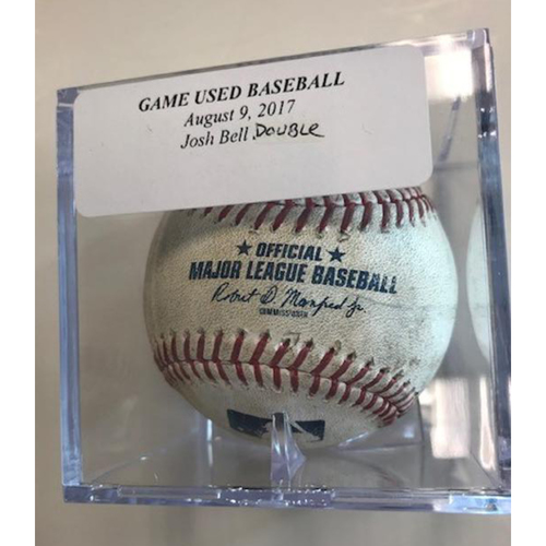 Photo of Game-Used Baseball: Josh Bell Double