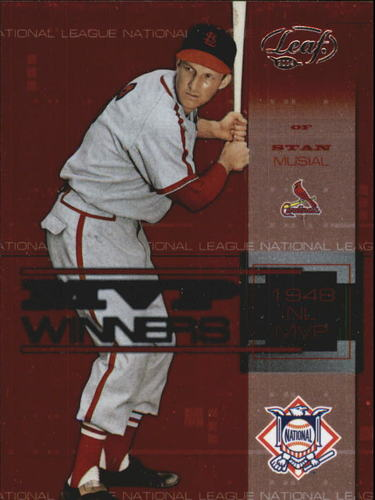 Photo of 2004 Leaf MVP Winners #1 Stan Musial