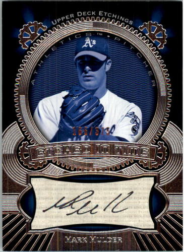 Photo of 2004 Upper Deck Etchings Etched in Time Autograph Black #MM Mark Mulder/375