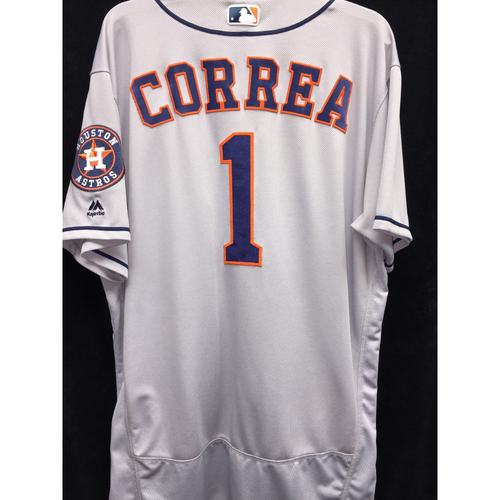 Photo of Game-Used 2016 Carlos Correa Road Jersey