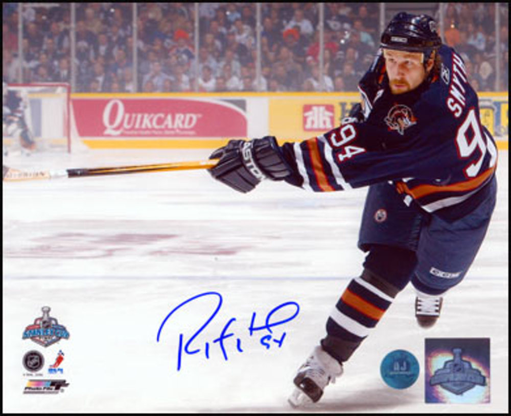 RYAN SMYTH Edmonton Oilers SIGNED 2006 Stanley Cup Final 8x10 Photo