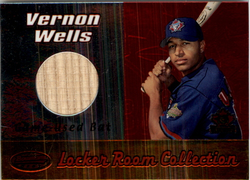 Photo of 2000 Bowman's Best Locker Room Collection Bats #LRCLVW Vernon Wells