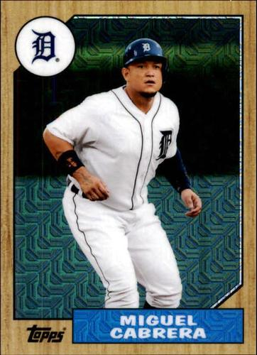 Photo of 2017 Topps '87 Topps Silver Pack Chrome #87MC Miguel Cabrera