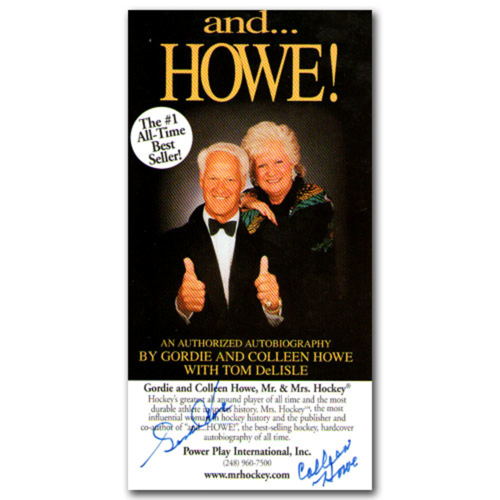 Gordie & Colleen Howe Autographed AND...HOWE! Promotional card