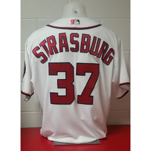 Photo of 2017 Opening Day Game-Used Jersey: Stephen Strasburg
