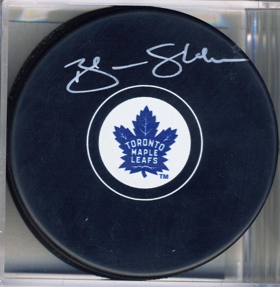 Brendan Shanahan Toronto Maple Leafs Signed Autograph Model Hockey Puck