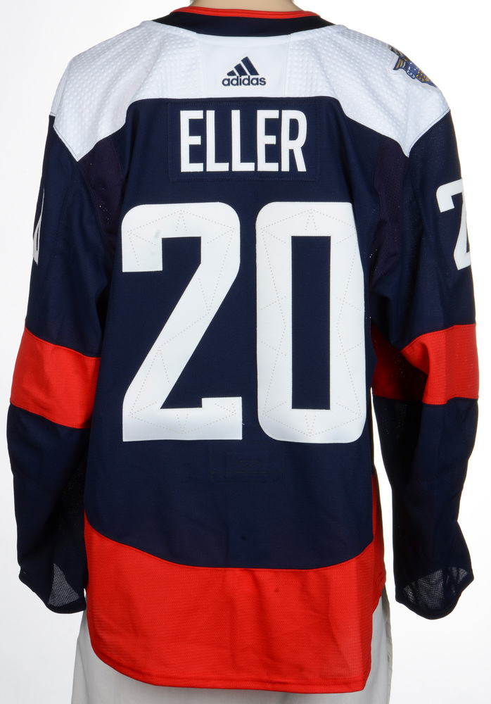 Lars Eller Washington Capitals Game-Worn 2018 NHL Stadium Series Jersey