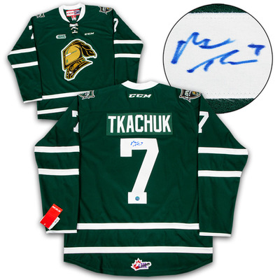 Matthew Tkachuk London Knights Autographed CCM Replica CHL Hockey Jersey