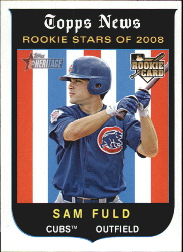 Photo of 2008 Topps Heritage #123 Sam Fuld RC