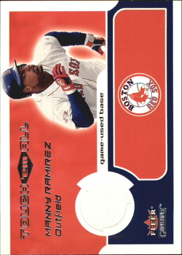 Photo of 2002 Fleer Genuine Touch Em All Game Base #9 Manny Ramirez