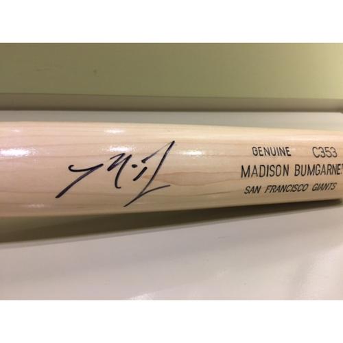 Photo of Giants Community Fund: Madison Bumgarner Personalized Autographed Bat