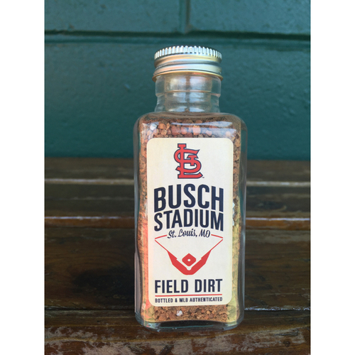 Photo of Game Used Dirt From Busch Stadium from Opening Day 2016