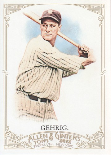 Photo of 2012 Topps Allen and Ginter #196 Lou Gehrig