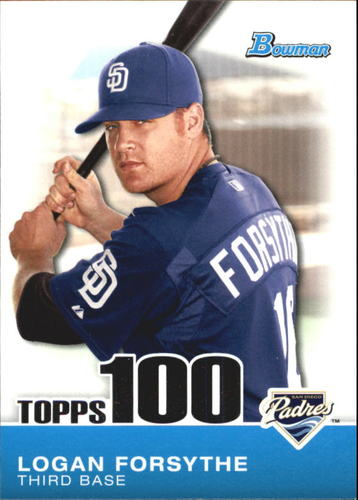 Photo of 2010 Bowman Topps 100 Prospects #TP65 Logan Forsythe -- Dodgers post-season