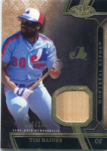Photo of 2015 Topps Tier One Relics Tim Raines 146/299 -- Hall of Famer